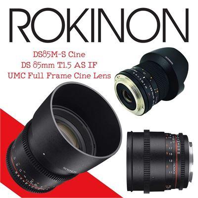New Rokinon DS85M-S Cine DS 85mm T1.5 AS IF UMC Full Frame Cine Lens