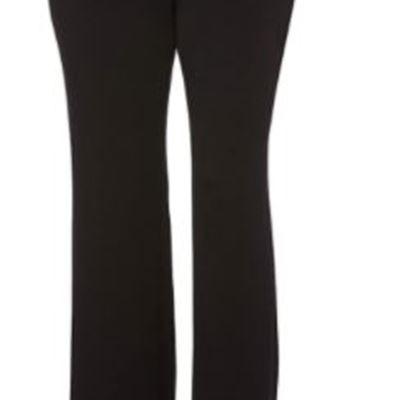 New Rafaella Womens Curvy Fit Gabardine Boot Leg Trouser