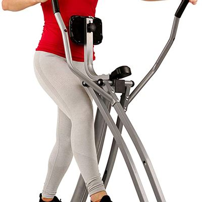 New Sunny Health & Fitness SF-E902 Elliptical Air Walk Trainer Glider w/ LCD Monitor