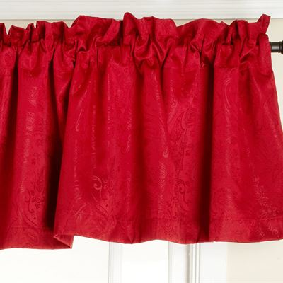 New Stylemaster Gabrielle Foamback Valance, Crimson, 56 by 17-Inch