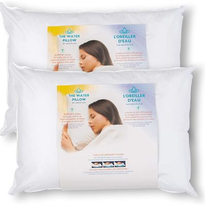 New Mediflow Fiber: The First & Original Water Pillow, clinically Proven to Reduce Neck Pain. Therapeutic, Ideal for Those who Suffer from Sleep