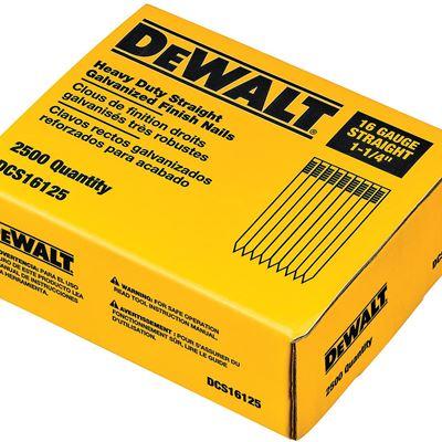 New DEWALT DCS16125 1-1/4-Inch by 16 Gauge Finish Nail (2,500 per Box)
