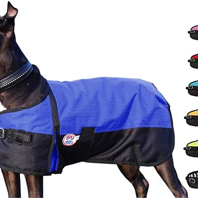 New Derby Originals 600D Medium Weight Waterproof Breathable Insulated Dog Coat, X-Large, Blue