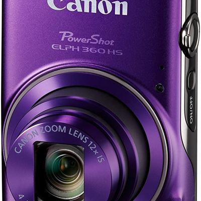 New Canon PowerShot ELPH 360 Digital Camera w/ 12x Optical Zoom and Image Stabilization - Wi-Fi & NFC Enabled (Purple)