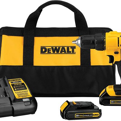 New DEWALT DCD771C2 20V Max Lithium-Ion Compact Drill/Driver Kit