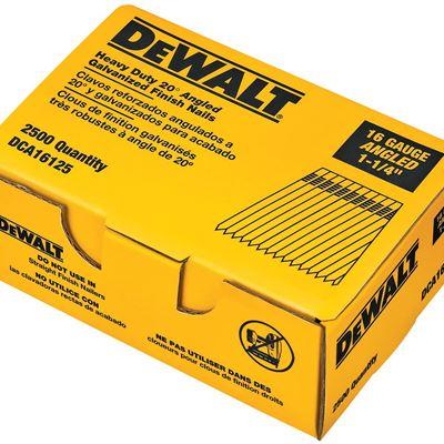 New DEWALT DCA16125 1-1/4-Inch by 16 Gauge 20-Degree Finish Nail, 2500 Per Box