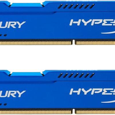 New Kingston HyperX FURY 16GB Kit (2x8GB) 1866MHz DDR3 CL10 DIMM - Blue (HX318C10FK2/16), (Pack of 2)