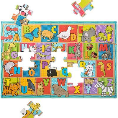 New Melissa & Doug Natural Play Giant Floor Puzzle: ABC Animals (35 Pieces)