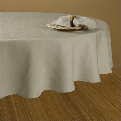 New Maytex Loft Table Cloth, 60-Inch, Linen