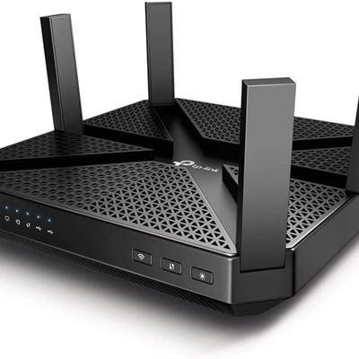 NEW TP-Link AC4000 Tri Band WiFi Router MU-MIMO, Beamforming, Gigabit, Integrated Anti-Virus & QoS, Link Aggregation (Archer C4000)