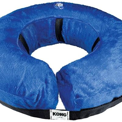 New KONG Cloud� Collar - Plush, Inflatable E-Collar - For Injuries, Rashes and Post Surgery Recovery - For Large Dogs/Cats
