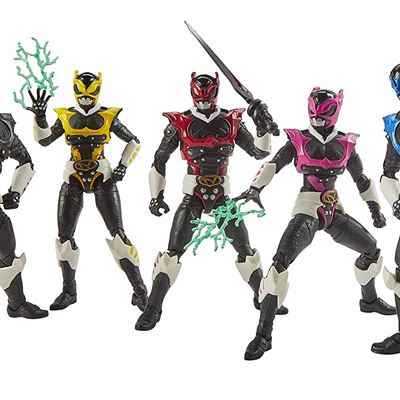 New Power Rangers Lightning Collection 6-Inch in Space Psycho Rangers 5-Pack Premium Collectible Action Figure Toys with Accessories