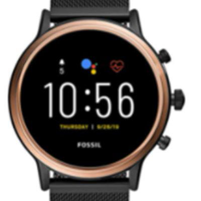 New Fossil Gen 5 Julianna Stainless Steel Touchscreen Smartwatch with Speaker, Heart Rate, GPS, NFC, and Smartphone Notifications