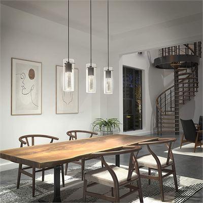 New Artika Essence Bubble Flow 3-Light Pendant Ceiling Lamp, Bronze