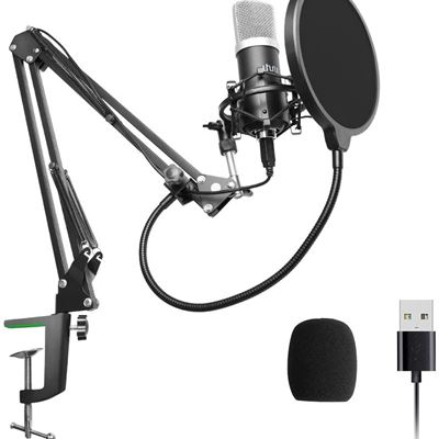 New USB Microphone Kit,UHURU USB Podcast Condenser Microphone Kit 192kHZ/24bit Plug & Play PC Microphone Cardioid Microphone for Recording Gaming