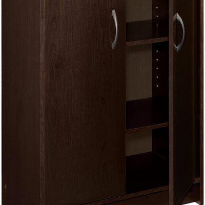 New ClosetMaid 8925 2-Door Stackable Organizer, Espresso