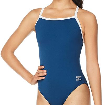 New Speedo Women's Swimsuit One Piece Endurance+ Flyback Solid Adult Team Colors