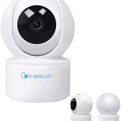 New Inesun 1080P Smart Home WiFi Camera Wireless Security Camera Pan/Tilt IP Camera for Baby/Pet, AI Auto Tracking, Two-Way Audio