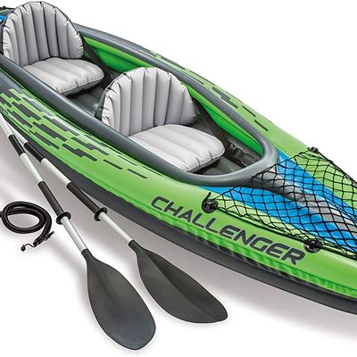 New Intex Challenger Kayak Inflatable Set with Aluminum Oars
