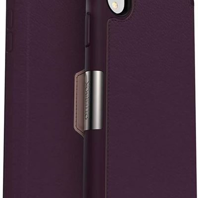New OtterBox Strada Series - Case for iPhone XR, Winter Flowers and Rose Design