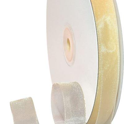 New Morex Ribbon Organdy Ribbon, 5/8-Inch by 100-Yard, Ivory