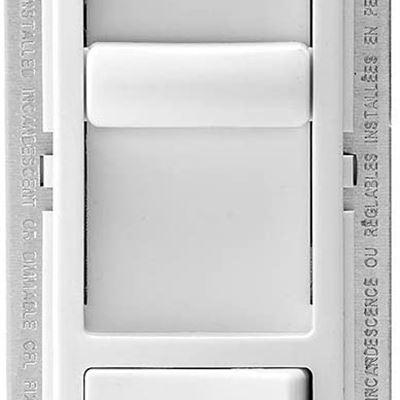 Leviton 6674-P0W SureSlide Universal 150-Watt LED and CFL/600-Watt Incandescent Dimmer