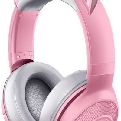 New Razer Kraken BT Kitty Edition: Bluetooth 5.0-40ms Low Latency Connection - Custom-Tuned 40mm Drivers - Beamforming Microphone