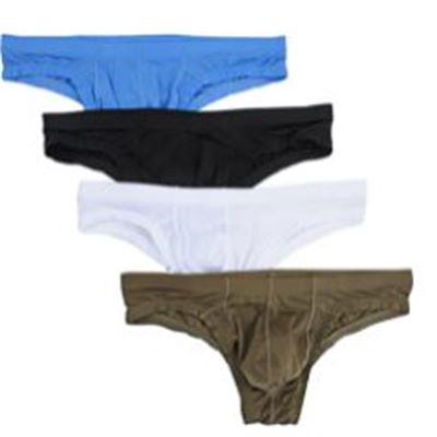 New Nightaste Men's Comfort Nylon Bikini Briefs Lightweight Soft Low Rise Triangle Underwear