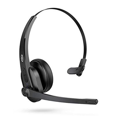 New TaoTronics Trucker Bluetooth Headset with Microphone, Wireless Cell Phone Headset Noise Cancelling Mic, On Ear Bluetooth Headphones