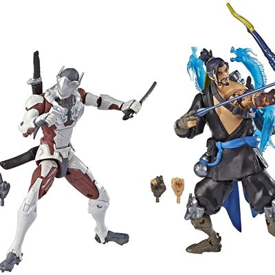 New Overwatch Ultimates Series Hanzo and Genji Dual Pack 6-Inch-Scale Collectible Action Figures with Accessories - Blizzard Video Game Characters