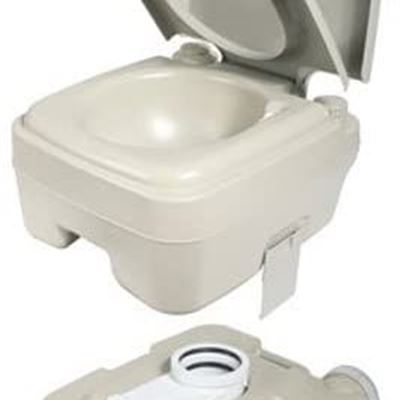 New Camco 41531 Standard Portable Travel Toilet, Designed for Camping, RV, Boating And Other Recreational Activites (2.6 gallon)