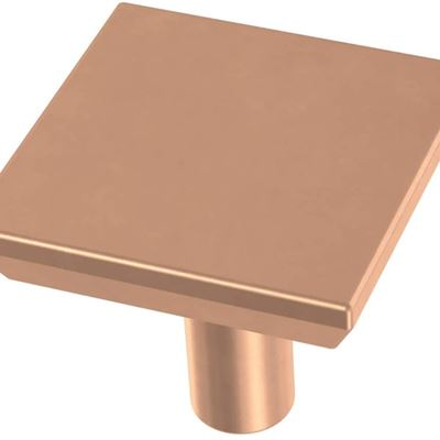 New Franklin Brass P40847K-BCP-C Simple Chamfered Square Kitchen or Furniture Cabinet Hardware Drawer Handle Knob, 1-1/8-Inch (29mm), Brushed Copper