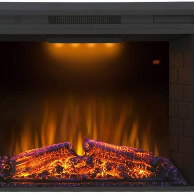 New Valuxhome Electric Fireplace 30 Inches Electric Fireplace Insert Heater with Overheating Protection Fire Crackling Sound Remote Control 750/1500W