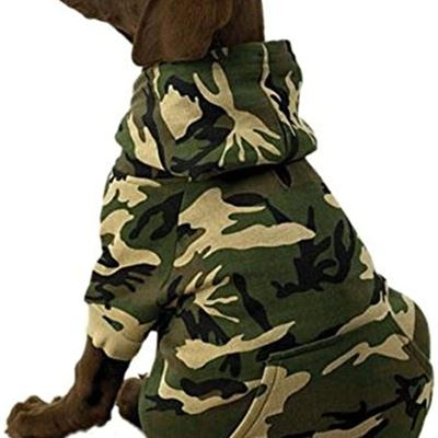 New Casual Canine Cotton Camo Dog Hoodie, Large, Green