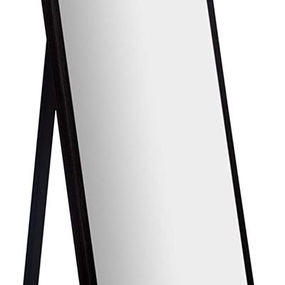 "New Gallery Solutions Framed Floor Free Standing Easel Full Length Mirror, 16"" x 57"", Black"