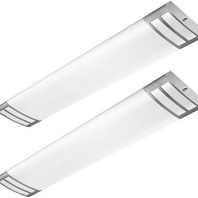 New AntLux 4ft LED Flush Mount Linear Lights 40W 4500lm Kitchen Light Fixtures, 4000K, 4 Foot led Kitchen Ceiling Light fixtures for Living Room
