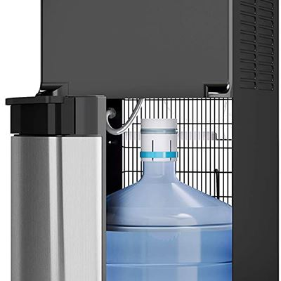 New Avalon Bottom Loading Water Cooler Water Dispenser, 3 Temperature, UL/Energy Star Approved, Black & Stainless Steel