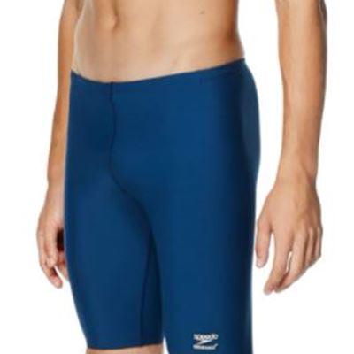 New Speedo Men's Endurance+ Polyester Solid Jammer Swimsuit