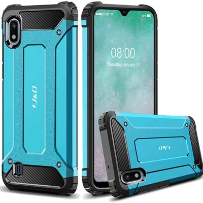 New J&D Case Compatible for Samsung Galaxy A10 Case, Heavy Duty ArmorBox Dual Layer Shock Resistant Hybrid Protective Rugged Case for Galaxy A10