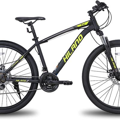New Hiland 26/27.5Inch Mountain Bike 21Speed MTB Bicycle with Suspension Fork Urban Commuter City Bicycle