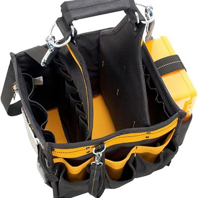 """New Custom Leathercraft DG5582 11"""" Electrical and Maintenance Tool Carrier with Parts Tray"""