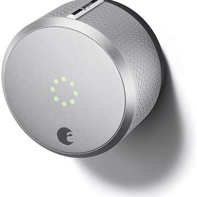 New August Smart Lock HomeKit Enabled (Silver) (Works with Amazon Alexa) 2nd GEN