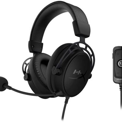 New HyperX Cloud Alpha S - PC Gaming Headset, 7.1 Surround Sound, Adjustable Bass, Dual Chamber Drivers, Breathable Leatherette, Memory Foam