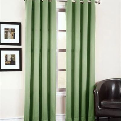 New Sage Green Solid Grommet Room Darkening Curtain - 54 in. W x 63 in. L