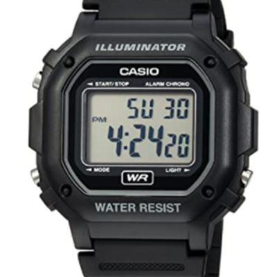New Casio Men's Classic Digital Resin Watch Black F108WH-1
