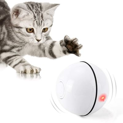 New Cat Toys Ball with LED Light360 Degree Self Rotating Ball,USB Rechargeable Interactive Cat Ball Toy,Stimulate Hunting Kitten Funny Chaser