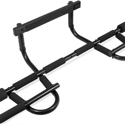 Used ProSource Multi-Grip Chin-Up/Pull-Up Bar, Heavy Duty Doorway Trainer for Home Gym