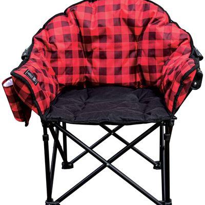 New KUMA Outdoor Gear Lazy Bear Junior Chair for Kids - Red Plaid