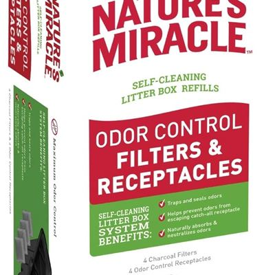 New Nature's Miracle P-98233  Receptacle & Filter Combo Pack Litter Box Waste Receptacles & Filters