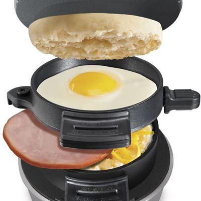 Used Hamilton-Beach 25478RC Breakfast Sandwich Maker with Timer, Silver, 25478RC, Single w/ Timer
